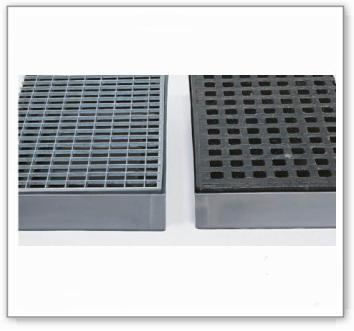 Zubehör: Gitterrost aus Polyethylen (PE), für Kleingebindewanne KBS40 mit 40 Liter Auffangvolumen