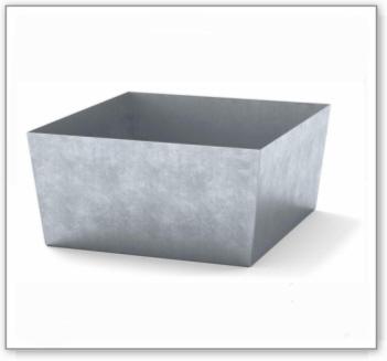 Auffangwanne classic-line aus Stahl für 1 Fass, verzinkt, o. Gitterrost, 885x815x378