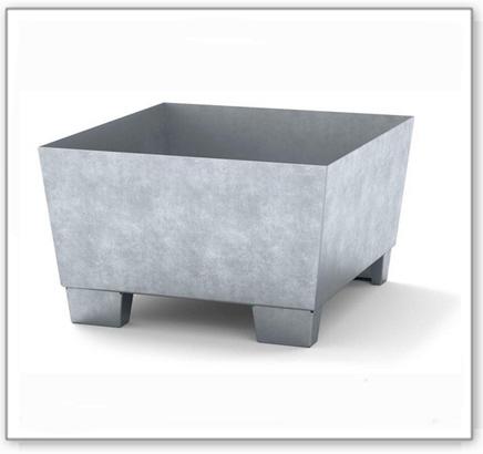 Auffangwanne classic-line aus Stahl für 1 Fass, verzinkt, unterfahrbar, o. Gitterrost, 885x815x478