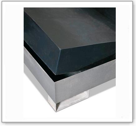 Säurebeständiger Wanneneinsatz aus Polyethylen (PE) für Auffangwannen für 4 Fässer, 1279x1759x209