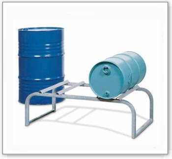 Fassbock für 2 Fässer à 50 / 60 oder 200 Liter, verzinkt