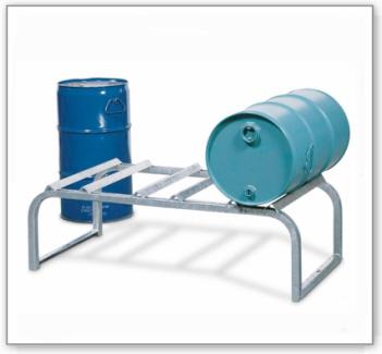 Fassbock für 3 Fässer à 50 / 60 Liter, verzinkt