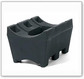 Fassbock aus Polyethylen (PE) für 1 Fass à 60 oder 200 Liter, anthrazit-schwarz