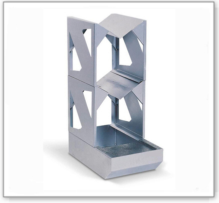 Abfüllstation classic-line aus Stahl für 2 Fässer à 60 l, verzinkt, m. verzinktem Fassbock