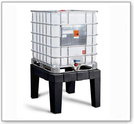 Lagerbock für IBC-Station aus Polyethylen (PE), grau