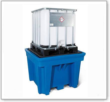 IBC-Station ECO aus Polyethylen (PE), mit Stellfläche, für 1 IBC