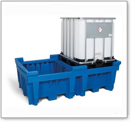 IBC-Station ECO aus Polyethylen (PE), zum direkten Abstellen von 2 IBC