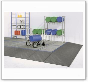 Eck-Auffahrrampe AEK aus Polyethylen (PE) für Bodenelemente BK