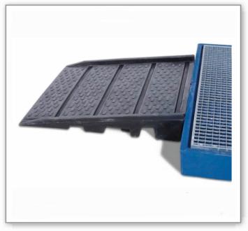 Auffahrrampe aus Polyethylen (PE) für Bodenelemente BK