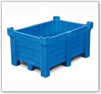 Stapelbehälter aus Polyethylen (PE), 90 Liter Inhalt, 70 Liter Auffangvolumen, geschlossen