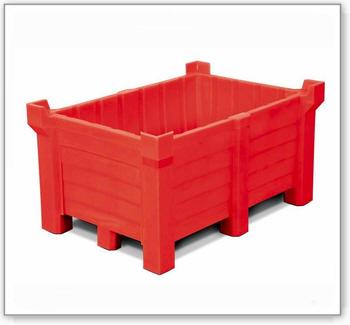 Stapelbehälter aus Polyethylen (PE), 260 Liter Inhalt, 240 Liter Auffangvolumen, geschlossen