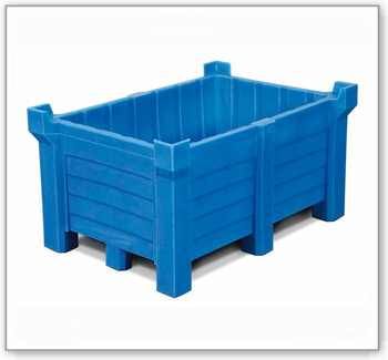 Stapelbehälter aus Polyethylen (PE), 400 Liter Inhalt, 360 Liter Auffangvolumen, geschlossen
