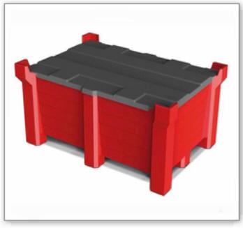 Deckel aus Polyethylen (PE), für Stapelbehälter PolyPro 1200 x 800mm