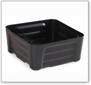 Kleingebindewanne pro-line aus Polyethylen (PE), ohne Gitterrost, 20 Liter, 400x400x180