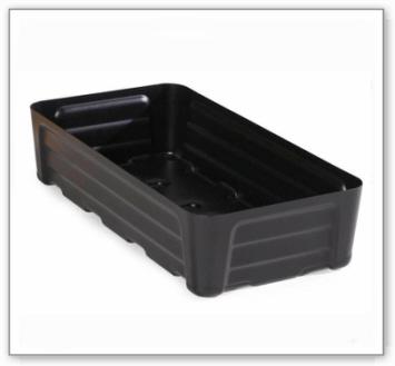 Kleingebindewanne pro-line aus Polyethylen (PE), ohne Gitterrost, 40 Liter, 784x400x180