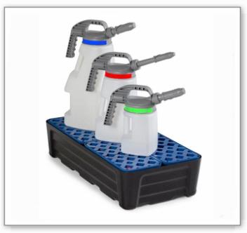 Kleingebindewanne pro-line aus Polyethylen (PE), mit PE-Gitterrost, 40 Liter, 784x400x185
