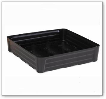 Kleingebindewanne pro-line aus Polyethylen (PE), ohne Gitterrost, 80 Liter, 784x784x180