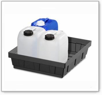 Kleingebindewanne EURO-P 15, aus PE, Auffangvolumen 15 Liter
