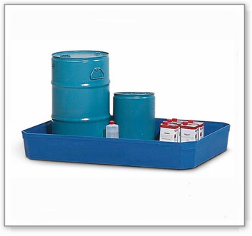 Gitterboxwanne GW-Z aus Polyethylen, zur Lagerung von Gefahrstoffen, 130 Liter Auffangvolumen