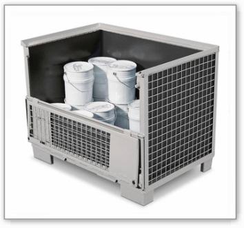 Gitterbox-Einsatz, mit Aussparung vorne, schwarz