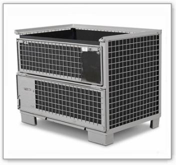 Gitterbox-Einsatz, 4-seitig geschlossen, schwarz