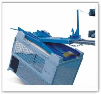 Gitterboxwendegerät, zum Wenden von Gitterboxen mit dem Stapler, 450 kg Traglast