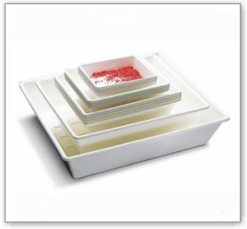 Laborschale, für umweltgefährdende, aggressive Stoffe, 21 Liter Volumen