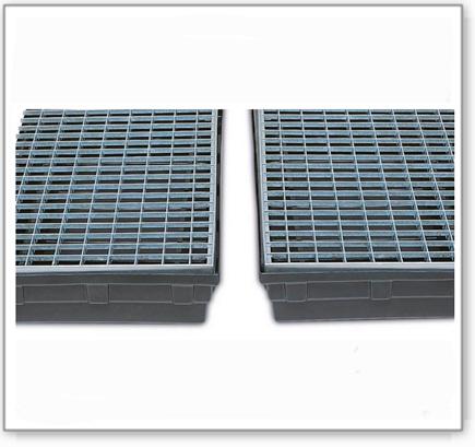 Gitterrost aus Stahl, verzinkt, für Auffangwanne Basis K