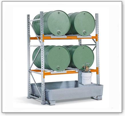 Fassregal FR-2014/4 für 4 Fässer à 200 Liter liegend, GF