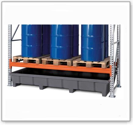 Regalwanne Typ RWP 27.6 aus Polyethylen (PE), für Regale mit Fachbreite 2700 mm