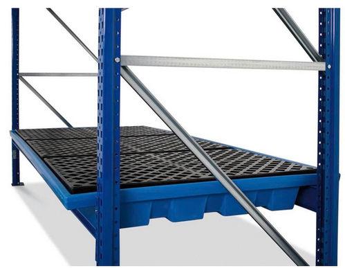 Regalwanne KRW 27.11, aus Polyethylen (PE), Gitterrost aus PE, für Regale mit Fachbreite 2700 mm