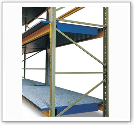 Regalwanne SRW 26.8 aus Stahl, lackiert, verzinkter Gitterrost, für Regale mit Fachbreite 2600 mm
