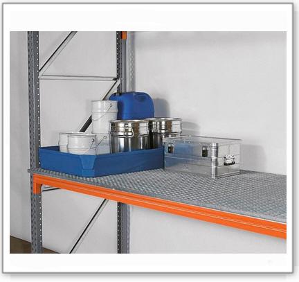 Gitterrost, verzinkt, als zusätzliche Stellfläche für Palettenregal PO 27