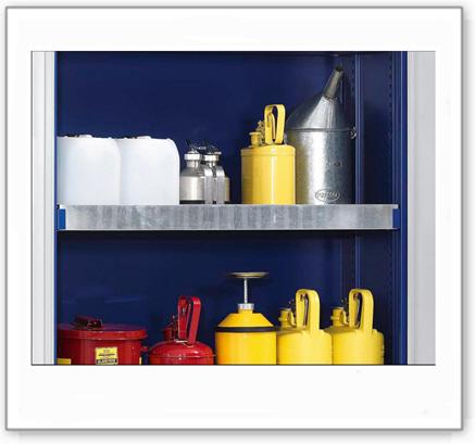 Auffangwanne für Chemikalienschrank Protect, incl. Befestigungsmaterial