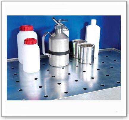 Lochblecheinsatz vz., für Chemikalienschrank CS 124