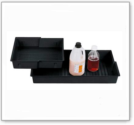 Kunststoff-Polyethylen(PE) Einlegewanne für Bodenwanne Chemikalienschrank Space 184, Typ B