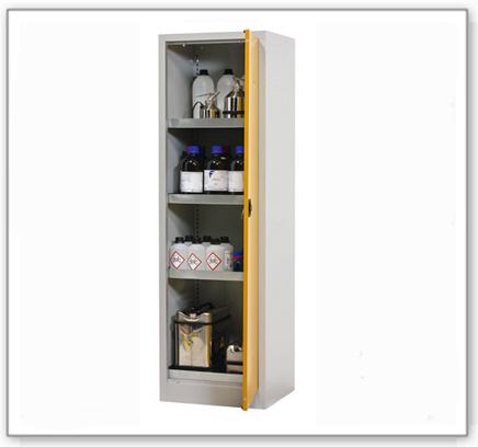Chemikalienschrank Tough, CS 60-195, Korpus lichtgrau (RAL 7035), Tür sicherheitsgelb (RAL 1004)