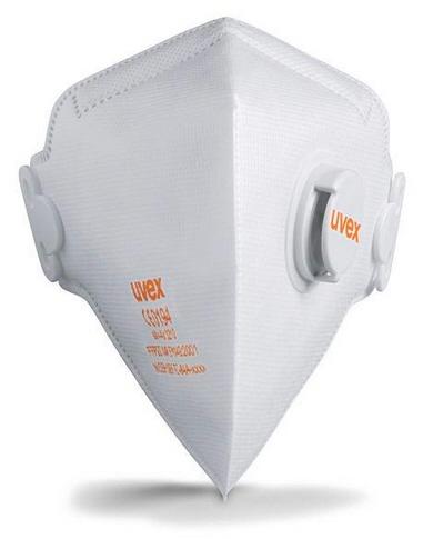 Atemschutz-Faltmaske uvex silv-Air c 3210, Schutzstufe FFP 2, mit Ventil, VE = 15 Stück